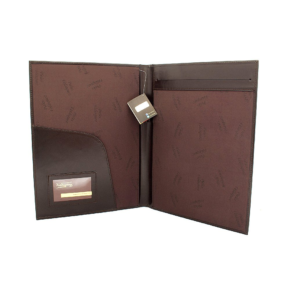 Porta Carpeta A4 de Cuero Box color Moro