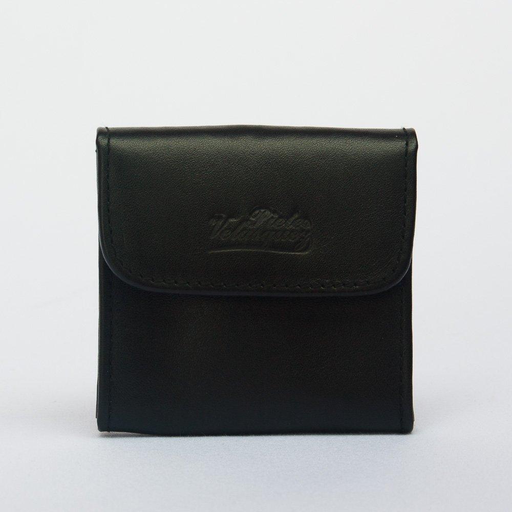 monedero de cuero para correa color negro