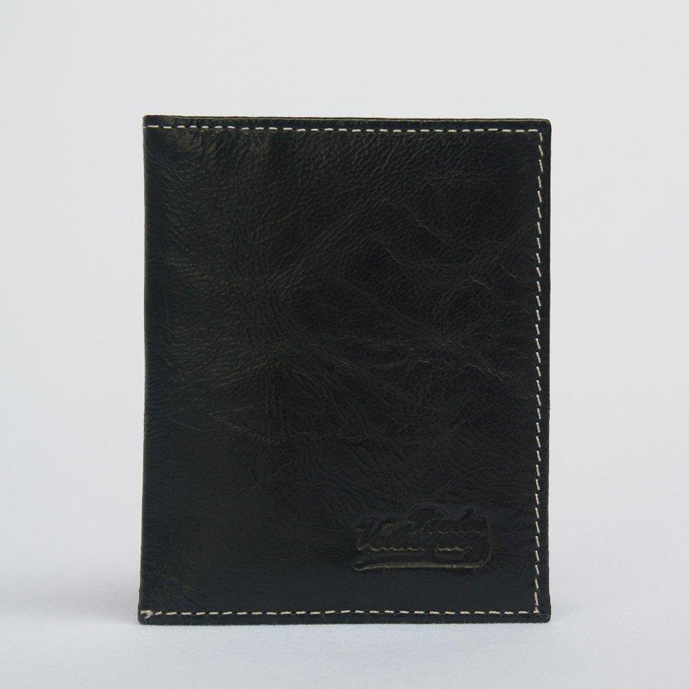 Porta Tarjetas de Credito de Cuero Negro