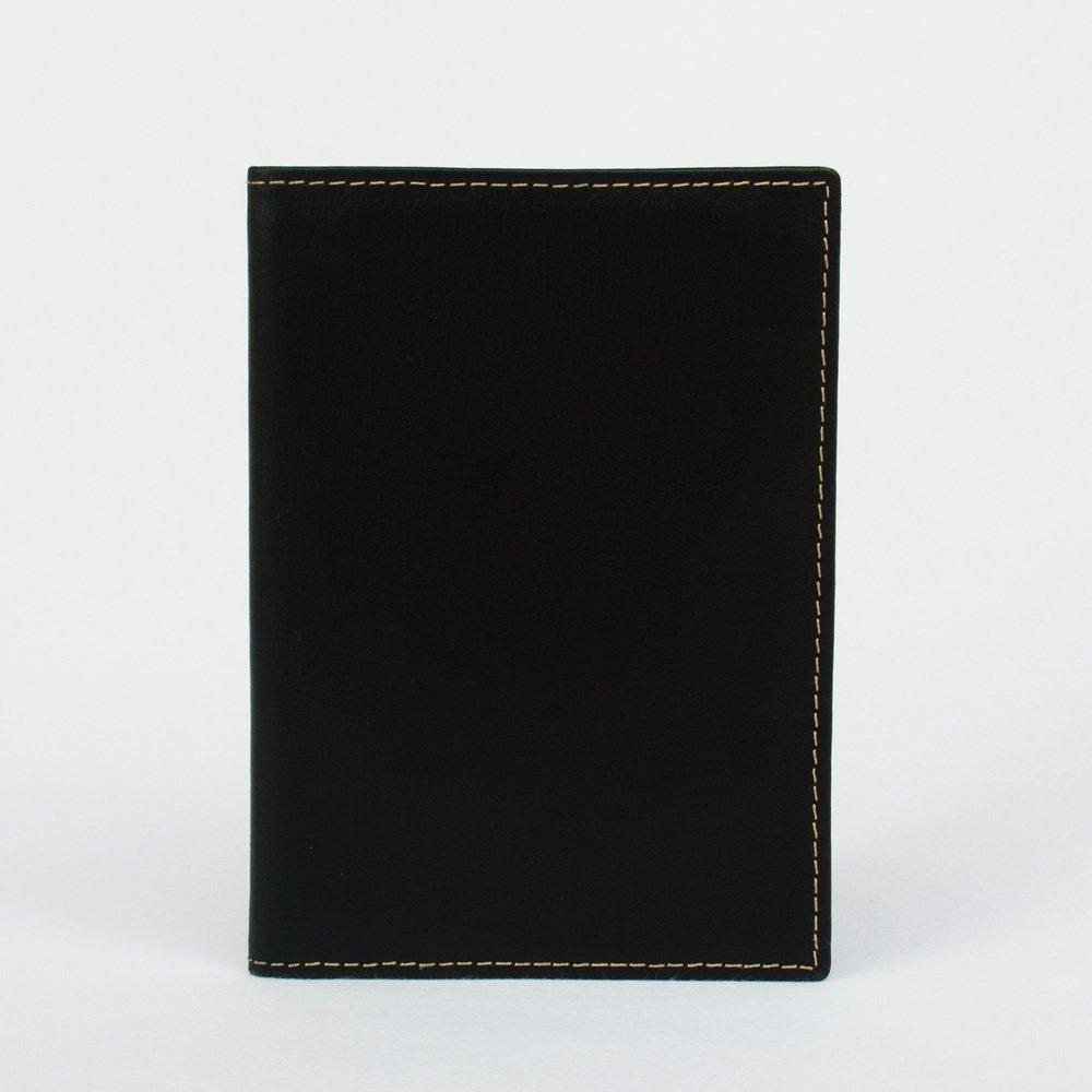 Funda de Pasaporte Deluxe en Cuero Negro