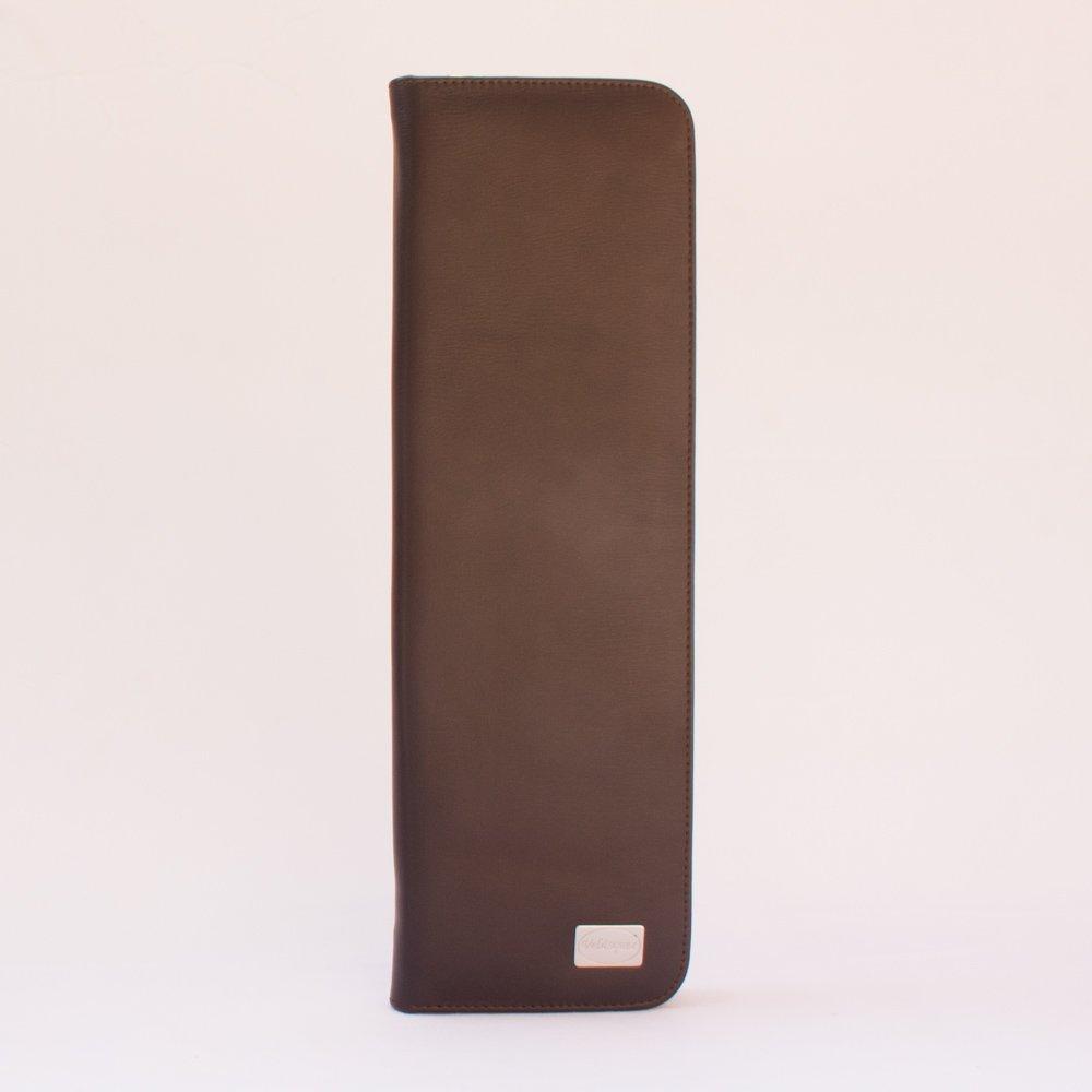 Porta corbata de Cuero color Moro