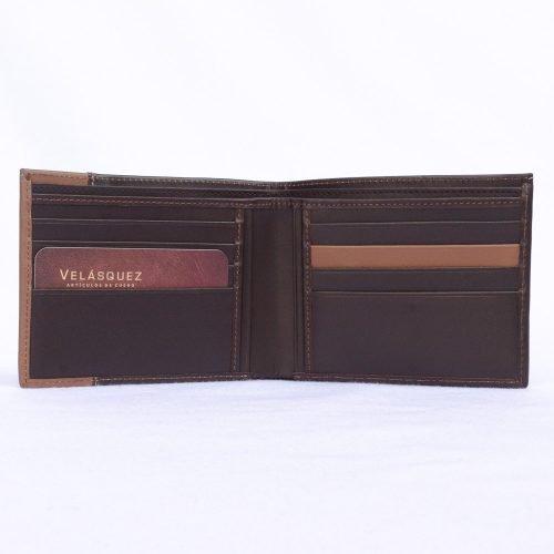 billetera tarjetero de cuero vacuno Velasquez