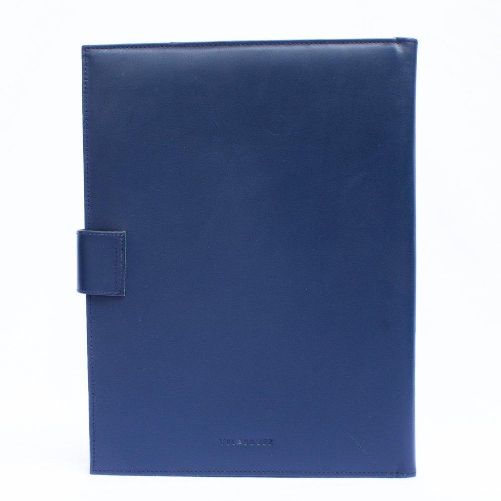 Porta Carpeta Estandar A4 de Cuero Negro