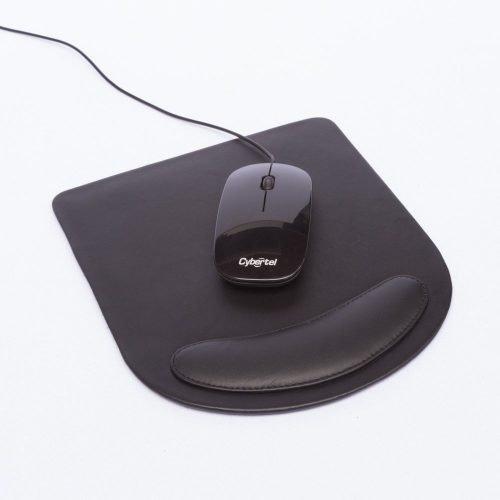 Mouse Pad Ergonómico de Cuero Vacuno