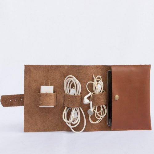 Porta Cable de cuero