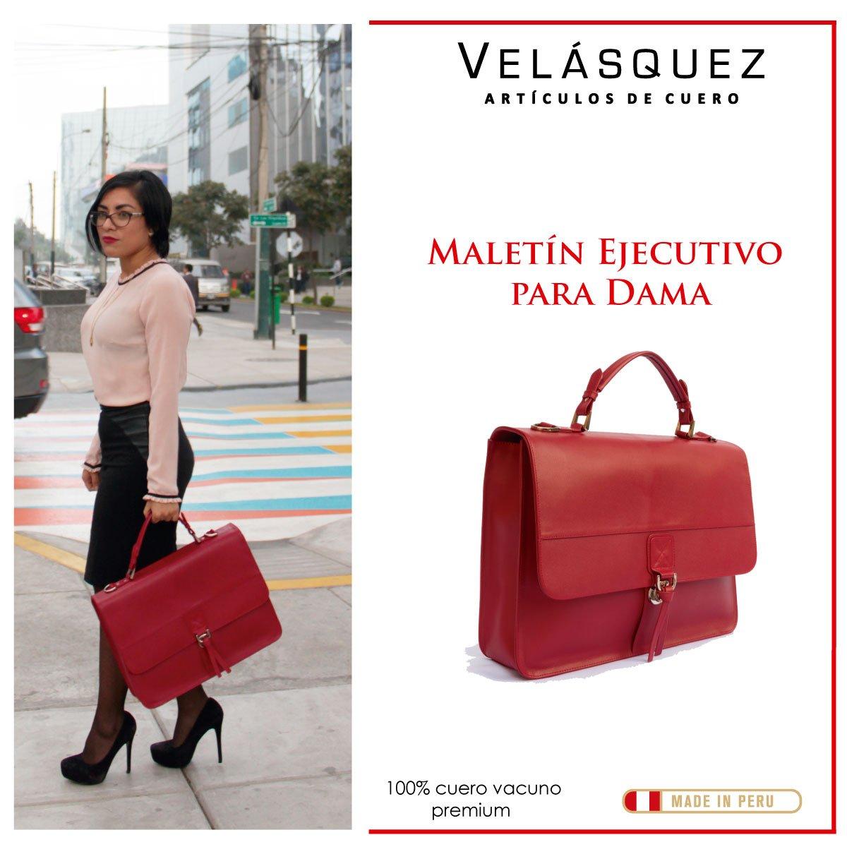 Maletin Ejecutivo para Dama Color Rojo