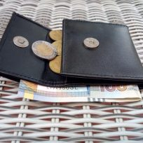 Monedero de Cuero con Bolsillo para Billetes