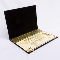Porta Diploma De Cuero Vacuno