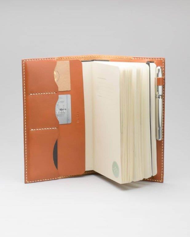 Funda de Cuaderno de Cuero Rustico