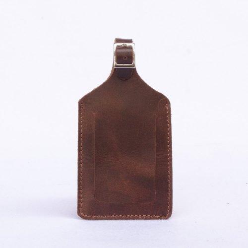 etiqueta para maleta rustico de cuero vacuno